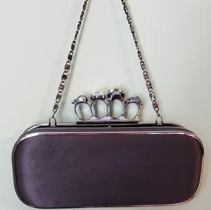 Handbags - Women's Ring Adorned Clutch